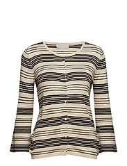 Tida Cardigan - FRENCH NOUGAT / BLACK