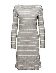 Tua Dress - WHITE SMOKE/ LIGHT GREY MELANG