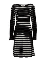 Tua Dress - BLACK / WHITE SMOKE
