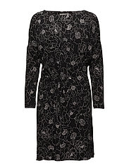 Tinne Dress KNTG - PENCIL FLOWER BLACK