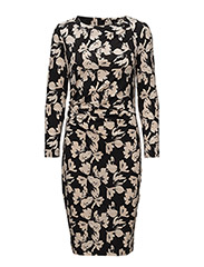 Trude Dress - WATERCOLOR FLOWER BLACK