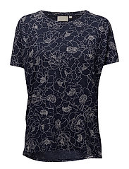 Yo MS_18 Tshirt KNTG - PENCIL FLOWER MIDNIGHT