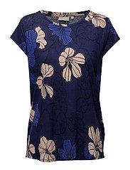 Celestin MS_18 Print - SPRING FLOWERS ORIENT BLUE