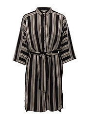 Baez Dress - STRIPE FRENCH NOUGAT
