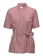 Polina Shirt LW - RED AND WHITE STRIPE