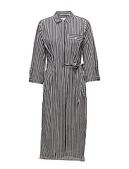 Polina Dress - BLACK AND WHITE STRIPE