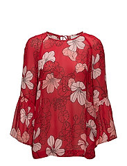 Begonia Blouse LW - SPRING FLOWERS RED