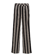 Chan Wide Pant HW - STRIPE FRENCH NOUGAT