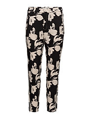 Chan Pant Nica fit - WATERCOLOR FLOWER BLACK