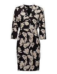 Chan Dress HW - WATERCOLOR FLOWER BLACK