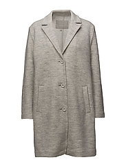 Cardea Coat - NEW LIGHT GREY MELANGE