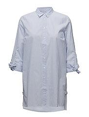 Breanna Long Shirt LW - YARN DYED BLUE STRIPES