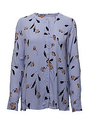 Brooklyn Blouse LW - SIMPLIFIED FLOWER PERSIAN BLUE