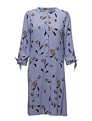 Brooklyn Dress LW - SIMPLIFIED FLOWER PERSIAN BLUE