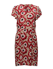 Ranya Short Dress LW - ORIENTAL POPPY RED