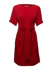 Alexa Tie Dress - RACING RED