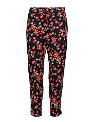 Selby Pants LW - NAVY FLOWER LEAF