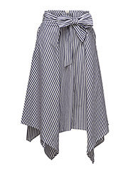 Sevilla Skirt LW - YARN DYED BLUE STRIPES