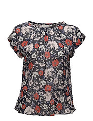 Senga Top LW - NAVY DRAWN FLOWER