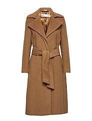 Sai Belted Coat Long - CARAMEL