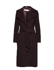 Sai Belted Coat Long OW - WINETASTING