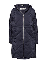 Sade Down Zip Coat OW - MARINE BLUE