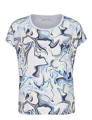 Sicily Tshirt - BLUE MARBLING