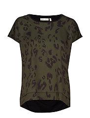 Sicily Tshirt - OLIVE LEAF MODERN LEO