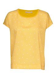 Sicily Tshirt - YELLOW SMALL LEAF