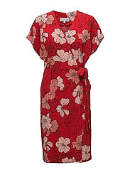 Begona Dress LW - SPRING FLOWERS RED