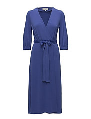 Siri Wrap Dress KNTG - CLEMATIS BLUE