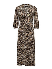 Siri Wrap Dress KNTG - LEOPARD