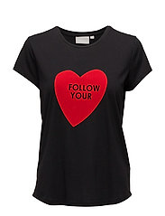 Ani AO_18 T-shirt KNTG - FOLLOW BLACK