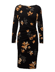 Florette Dress - PAINTED FLOWER BLACK