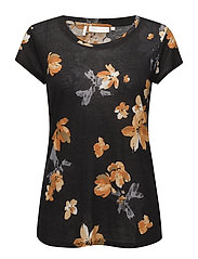 Celestin MA_18 Printed KNTG - PAINTED FLOWER BLACK