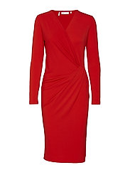 Fillucca Drape Dress KNTG - FIERY RED
