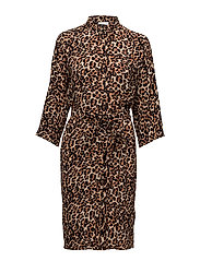 Subira Shirt Dress LW - LEOPARD