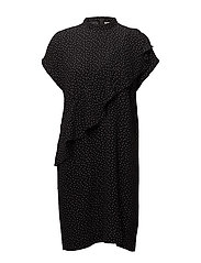 Valeria Dress LW - DOT BLACK