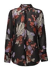 Vendela Shirt - BOUQUET OF FLOWERS BLACK