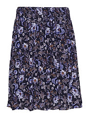 Vernon Skirt LW - WALLPAPER FLOWER MARINE BLUE