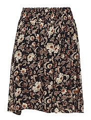 Vernon Skirt LW - WALLPAPER FLOWER BLACK