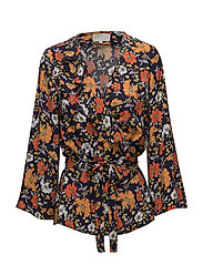 Octavia Blouse - NAVY FLOWER
