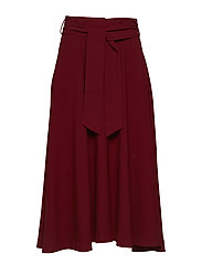 Gianna Wide Skirt HW - CABERNET