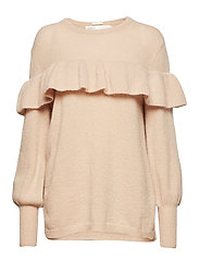 Finula Ruffle Pullover KNIT - ROSE DUST