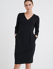 InWear - Nira Dress - midi-kleider - black - 0
