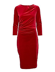 Nisas Dress - TRUE RED