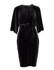 Vonda Tie_Front Dress - BLACK