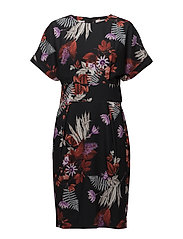 Greer Printed Dress HW - BOUQUET OF FLOWERS BLACK