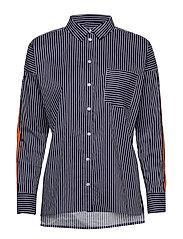 Niche Shirt - YARN DYED BLUE STRIPES