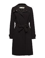Udele Zip Coat - BLACK